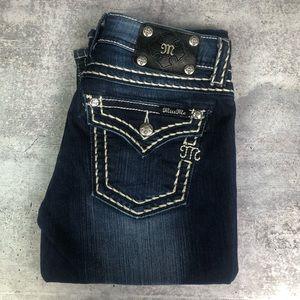 Miss Me Dark Denim Jeans Boot Cut 28 Inseam 34